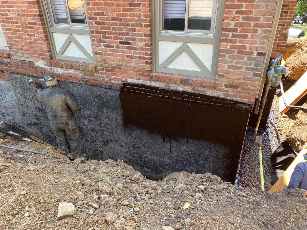 Basement Waterproofing Job